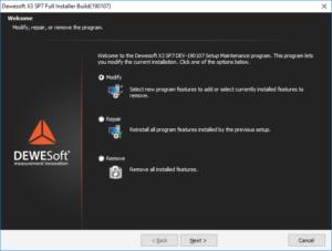 Dewesoft installer