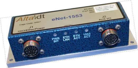 E-NET 1553 Avionics Appliance for Ethernet Networks
